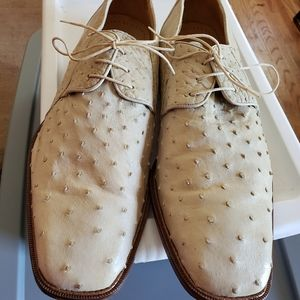 Mens Ostrich Leather shoes